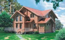 Проект деревянного дома 10-75