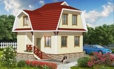 Проект дома из бруса Д48