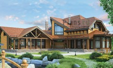Проект деревянного дома 12-83