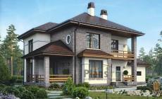 Проект кирпичного дома 40-93