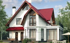 Проект кирпичного дома 41-14