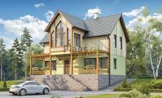 Проект деревянного дома 12-63