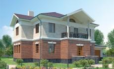 Проект кирпичного дома 36-55