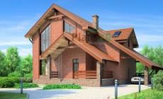Проект кирпичного дома 36-58