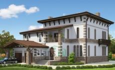 Проект кирпичного дома 36-59