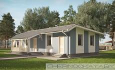 проект одноэтажного дома №1566