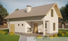 Проект гостевого дома с сауной №1522