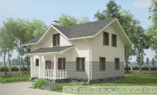 Проект дома с мансардой №1558