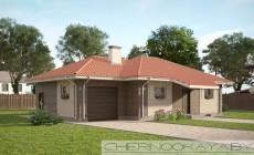 Проект дома №1550-3 с гаражом