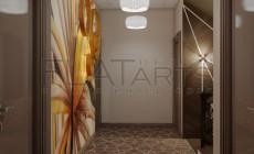 Дизайн дома 350 кв.м в стиле арт-деко. Лестница