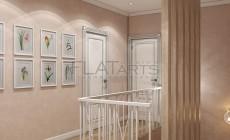 Дизайн дома 260 кв.м в стиле классика с элементами прованса. Лестница