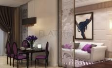 Дизайн квартиры в стиле арт-деко 93кв.м.