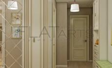 Дизайн квартиры в стиле неоклассика 85кв.м.