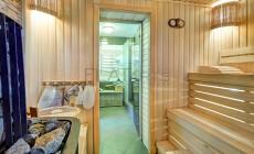 Фотографии банного комплекса 85 кв.м. после ремонта. Душевая, сауна
