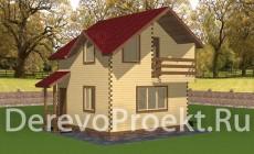 Проект двухэтажного дома 67м2 - брус 140х140