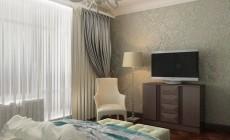 Спальня в квартире в Санкт-Петербурге