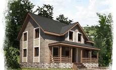 Проект каркасного дома К-1. Общая площадь 200 м2