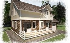 Проект каркасного дома К 3. Общей площадью 176 м2