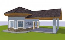 Проект кирпичного дома 41-96