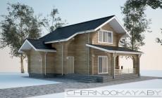 Проект деревянного дома №1583 с мансардой