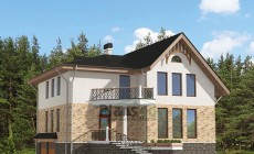 Проект кирпичного дома 42-58