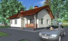 Проект небольшого одноэтажного дома A-028