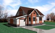 Проект небольшого дома на три спальни и с гаражом