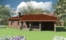 Эскизный проект большого одноэтажного дома