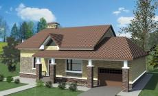 Типовой эскизный проект дома с гаражом