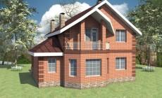 Проект одноэтажного дома с мансардой на четыре спа