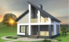 Типовой проект 1-этажного дома с мансардой