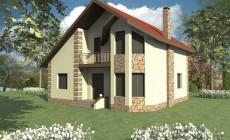 Эскизный проект одноэтажного дома с 3 спальнями