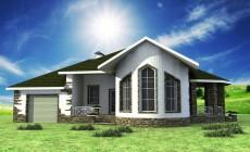 Эскизный проект одноэтажного дома с двумя спальням