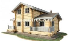 Проект деревянного дома с баней 12 на 9 метров