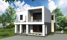 Проект современного двухэтажного дома