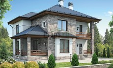 Проект кирпичного дома 42-61
