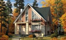 Проект кирпичного дома 42-68