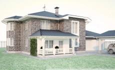 Проект дома с гаражом на 2 машины №1579