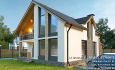 "АР проект Дома ""Пуатье"" 10х14 + 3D Дизайн-интерьер"