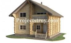 Деревянный дом 9.5 х 9 м - дикий сруб