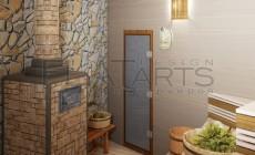 Дизайн проект банного комплекса 130 кв.м. Русская парная