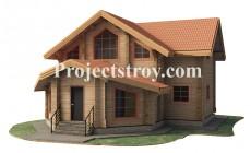 Дачный дом из бруса 10 х 10.6 м