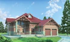 Проект кирпичного дома 36-97
