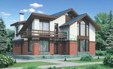 Проект кирпичного дома 37-01
