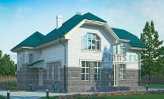 Проект кирпичного дома 37-14