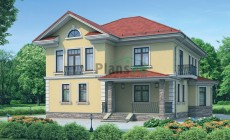 Проект кирпичного дома 37-21