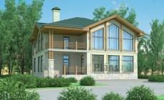Проект кирпичного дома 37-22