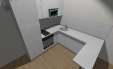 Кухня для квартиры студии от Premier Garden