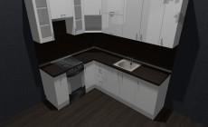 Кухня Белый глянец от Premier Garden