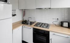 Угловая кухня для небольшой квартиры